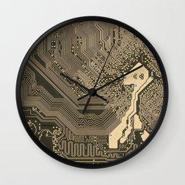 Circuit Board Micro Chip Wall Clock