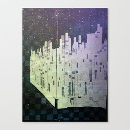 On The Spatial Grid Canvas Print