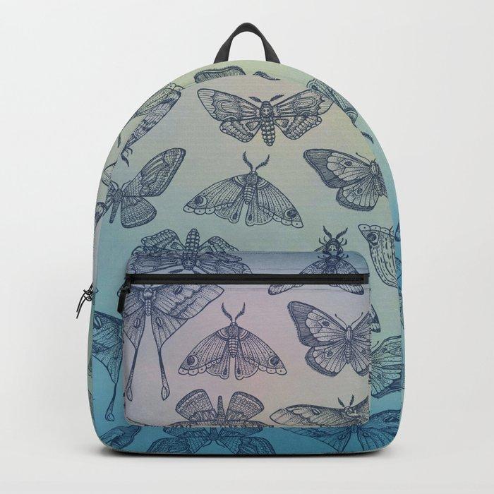 Lepidoptera Blue Backpack