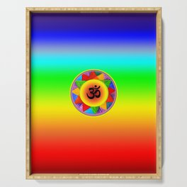 Ohm with Chakra Colours Serving Tray