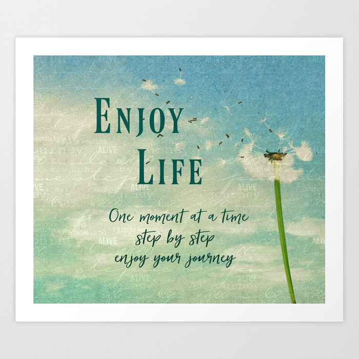Quotes About Enjoying Life: Enjoy Life Quotes Typography Art Print By Quotelifeshop