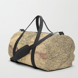 Transcontinental Route of Atlantic & Pacific Railroad Map (1883) Duffle Bag