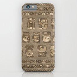 Mayan Calendar Month glyphs iPhone Case