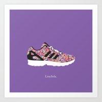 Adidas ZX Flux Multicolor Prism Art Print
