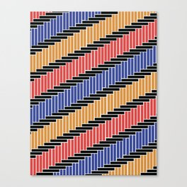 Line pattern (Complementary Colors) Canvas Print