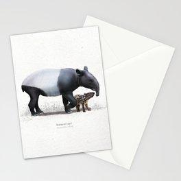 Tapir art print Stationery Cards