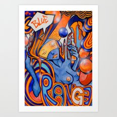 Blue-Orange Art Print
