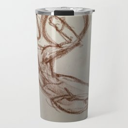 Nude Man With Shield Travel Mug