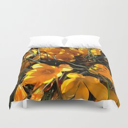 Colourful Crocus Duvet Cover
