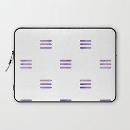 Violet Purple Stripes Pattern White Backgrund Laptop Sleeve