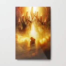 The Presence of His Power Metal Print