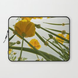 Looking Through Yellow Daisies to the Sky Laptop Sleeve