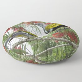 Black-throated Green Warbler Floor Pillow