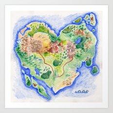 Island of Love Art Print