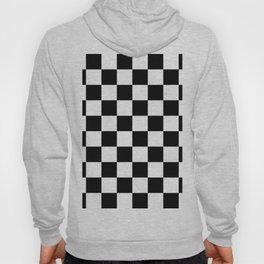 Black & White Checkered Pattern Hoody