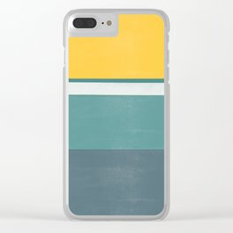 stripe study 2 Clear iPhone Case