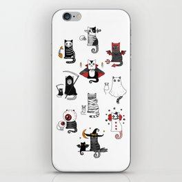 Halloween Cats In Terrible Imagery iPhone Skin