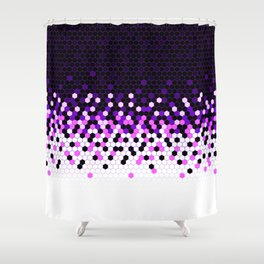 Flat Tech Camouflage Reverse Purple Shower Curtain