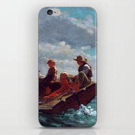 Winslow Homer Breezing Up (A Fair Wind) iPhone Skin