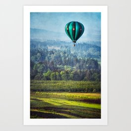 Floating Over Fields Art Print