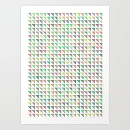 edge of autumn geometric pattern Art Print