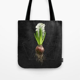 White Hyacinth Hydroponics (tryptic 2/3) Tote Bag
