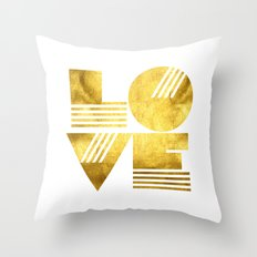 LOVE Typography Art Throw Pillow
