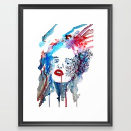 vampire look Framed Art Print