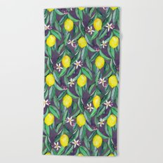 When Life Gives You Lemons - grey purple Beach Towel
