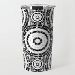 Geometric black and white Travel Mug
