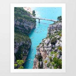 Cliffs And Tosca Art Print