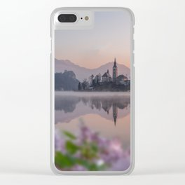 Lilac Nights Clear iPhone Case