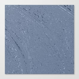 Blue Grey Rainy Windshield Ambience Canvas Print