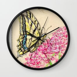 Collette's butterfly Wall Clock
