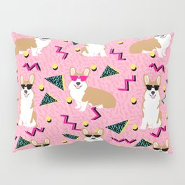 Rad Corgi Dog - 80s, 90s retro style rad corgi cute corgi design - pink Pillow Sham
