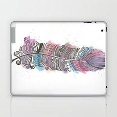 Purple and Blue Zen Feather Laptop & iPad Skin