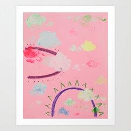 Cotton Candy Primrose Beats Art Print