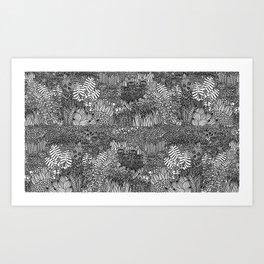 Overgrowth of Foliage Art Print
