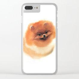 Pomeranian Clear iPhone Case