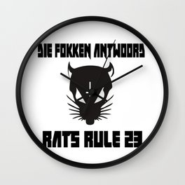 Rats Rule 23 Wall Clock