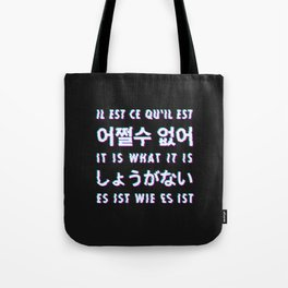 It is what it is - Typography Tote Bag