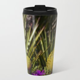 Protea pincushion flowers with vignette Travel Mug