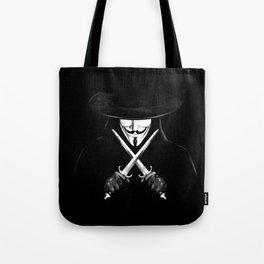 V for Vendetta (e7) Tote Bag