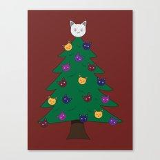 Merry Meow Canvas Print