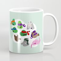 tmnt Mugs featuring TMNT by Matthew Goshman