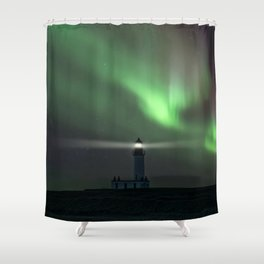 When the northern light appears Shower Curtain
