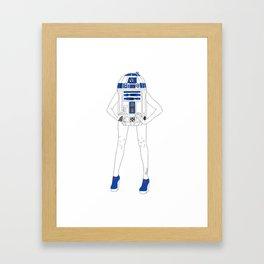 Girl R2-D2 Framed Art Print
