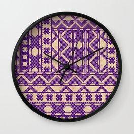 chevron layout in purple Wall Clock
