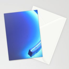 Blue neon Stationery Cards