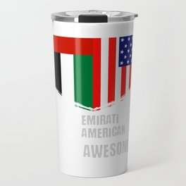 50% Emirati 50% American 100% Awesome Travel Mug